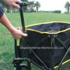 Outdoor Collapsible Folding Utility Wagon Camping Wagon Beach Cart-Black