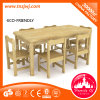 Long Oak Table Chair Classroom Wooden Furniture