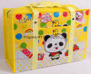 Custom Design Cartoon PP Laminated Non-Woven Zipper Shopping Bag
