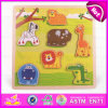 2015 Colorful Wooden Animals Puzzle Toy, Educational Wooden Cartoon Puzzles Toy, Funny Baby Cute 3D DIY Wooden Puzzles Toy W14L002