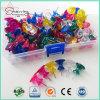 26mm Transparent Colors Plastic I Shaped Bulk Thumb Tacks for Binding
