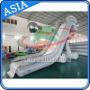 Gray and White Color Inflatable Yacht Boat Water Slide, Inflatable Dock Slide for Sale