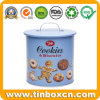 Metal Tin Container with Handle for Chocolate Biscuits Cookies Storage