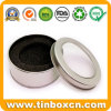 Round Metal Clear Window Tin Can with Insert Sponges for Gift Packaging Box