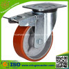 Heavy Duty Caster with Total Brake, PU Wheel (ISO, SGS)