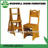 Pine Wood Convertible 3 Step Library Ladder Chair