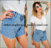 Denim Frayed Shorts Pants (aznat31101)