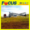 High Quality 50~60cbm/H Portable Concrete Mixing Plant with Wheel