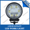 18W Round LED Work Light for Truck and Trailer