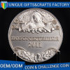 High Quality Die Brass Silver Plated Challenge Metal Souvenir Coins