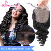 100% Virgin Brazilian Human Hair Loose Wave Silk Base Closure