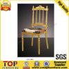 Crown Golden Aluminum Fixed Cushion Napoleon Chair