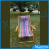 Wooden Foldable Chair Sun Bed Striped