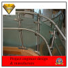 Curved Stainless Steel and Glass Balustrade for Indoor Staircase (JBD-Z13)