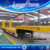 3 Axles Low Flatbed Semi Truck Trailer