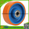 Blue Painted Cast Iron Wheels for Hand Trolley