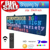 P10 Outdoor 39′′x14′′ Full Color LED Display Remote Control Programmable Message LED Display 7 Color Message Board