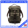 Fashion Leisure Waxed Canvas Backpack for Campus and Student
