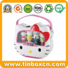 Hello Kitty Toys Metal Gift Storage Tins with Transparent Window