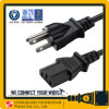 America Canada cUL Approval USA AC Power Cord Cable 125V 3 Pin Plug+ C13 Connector