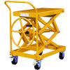 Screw Type Lift Table Truck Without Hydraulic Pump