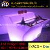 LED Furniture Straight Plastic Colorful Table