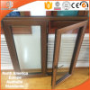 Multiple Wood Color Aluminum Casement Window, Teak Wood Casement Window for Villa, Solid Teak Wood Window for High-End Villa