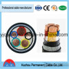 VV32/Vlv32 Cooper (aluminium) Thin Steel Wire Armoring PVC Insulating PVC Jacketing Power Cable