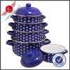 Popular Cast Iron Enamel Cookware Set with Lid
