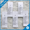 2017 New Style Washing Care Labels for Garment Accessories