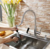Deck Mounted Single Lever Pull out Sink Mixer
