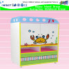 Kindergarten Wooden Kids Role Play Shelf Cartoon TV Table Functional TV Cabinet (HB-04104)