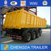 Heavy Duty U Shape Box 3 Axles Tipper Dump Semi Trailer