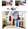 Point to Point Telephone System Five Way Intercom with Master