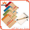 Popular Cheap Customized Spiral Notebook Wtih Pen (PNB006)