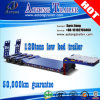 120tons Low Loader Flatbed Truck Semi Trailer / Lowbed Trailer