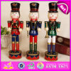 2015 New Style Wooden Nutcracker, Luxury Wooden Toy Nutcracker, Customized Wooden Christmas Gift Nutcracker Soldier W02A046