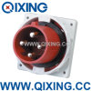 Qixing European Standard Male Panel Mounted Plug (QX3656)