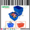 Blue Retail Store Shopping Basket with Double Handle