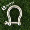 Electrical Galvanized Rigging Hardware European Type Large Bow Shackle