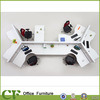 Custom Made Modern Elegant White Teaming Desk Space Workstation Divider