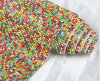 Factory Direct Sale Wholesale Colorful Rhinestone Mesh with Glue