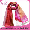 2017 Digital Printing Hand Rolled Real Silk Twill Scarf Women