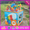 Big Wooden Multifunctional String Beads Toy, Hot Sale Baby Multifunctional Educational Wooden Toy W12D033