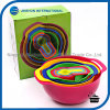 10PCS Rainbow Salad Bowl Set
