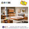 King Size Leather Bed Modern Wood Bedroom Furniture (SH-017#)