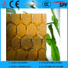 3-8mm Amber Flora Patterned Glass with CE & ISO9001