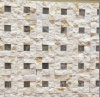 Natural Stone Mosaic Stainless Steel of Building Wall and All Background Tile (FYSSD079)