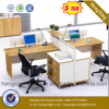 Cherry Office Furniture L Shape Workstation Office Cubicle (HX-6M197)