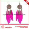 New Arrival Vintage Diamond Decoration Earrings with Feather Pendent